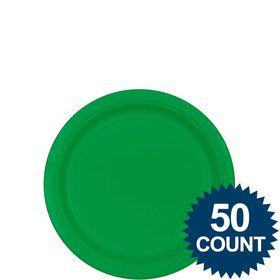 "Green 7"" Cake Plates (50 Pack)"