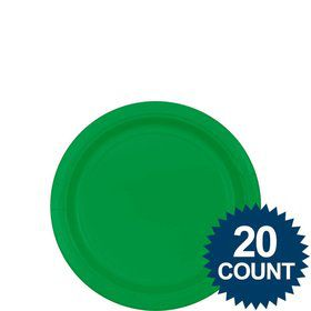 "Green 7"" Paper Plates, 20 ct."