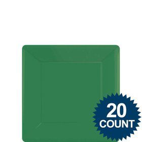 "Green 7"" Square Paper Cake Plates (20 Pack)"