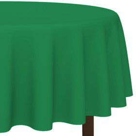 "Green 84"" Round Table Cover (Each)"