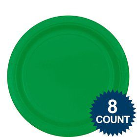 "Green 9"" ?Paper Luncheon Plates (8 Pack)"