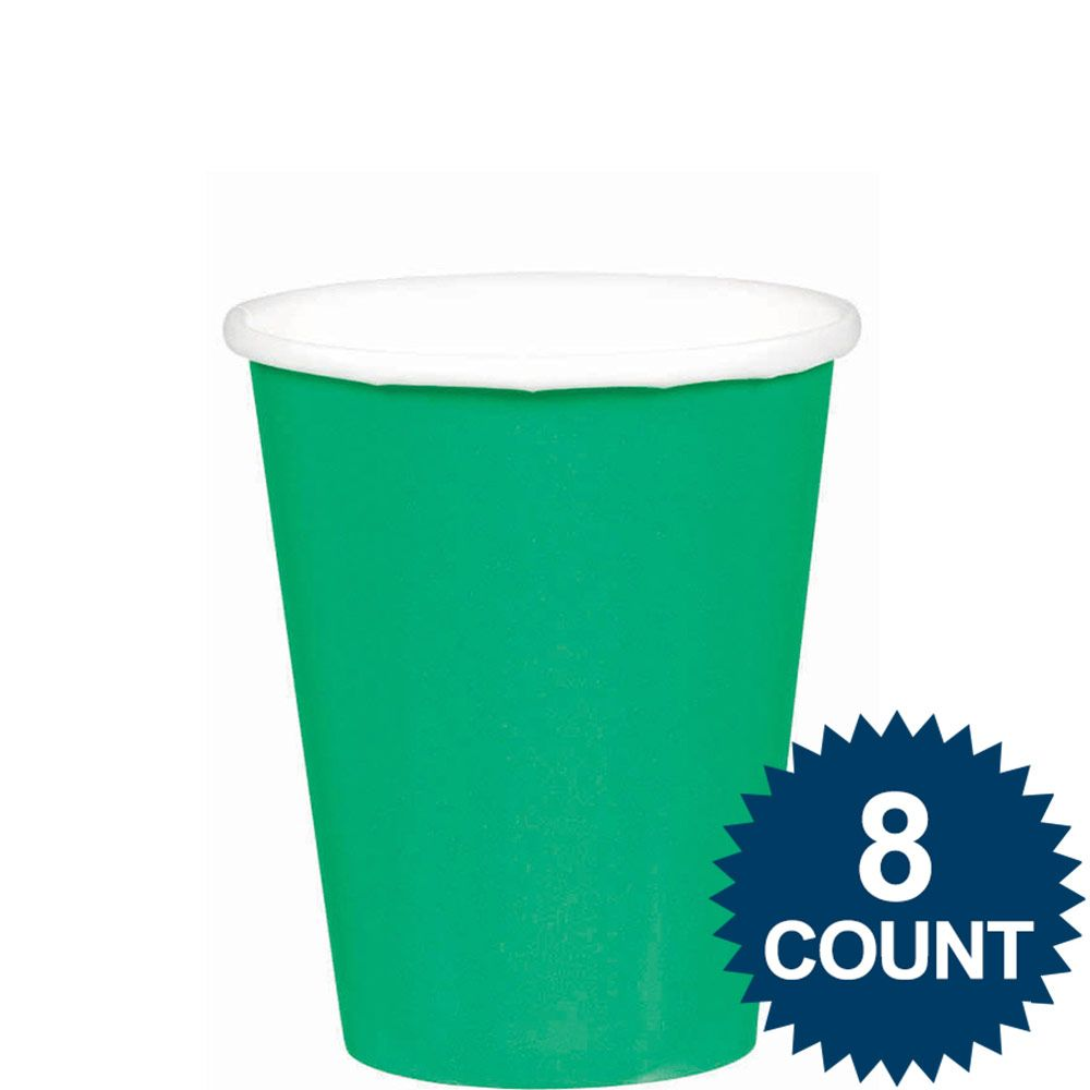 Green 9oz. Paper Cups (8 Pack) - Party Supplies BB5801503