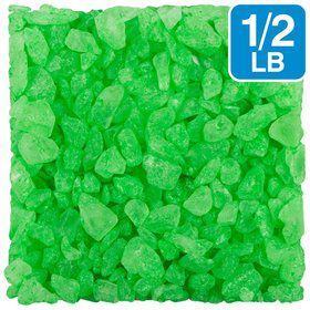 Green Apple 1/2Lb. Rock Crystal Candy Gems (Each)