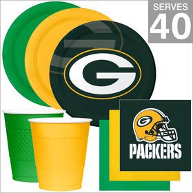 Green Bay Packers NFL Party Supplies Deluxe Kit for 40