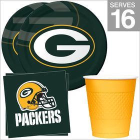 Green Bay Packers NFL Party Supplies Standard Kit for 16