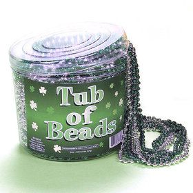 Green Beaded Necklaces in a Bucket (72 ct)