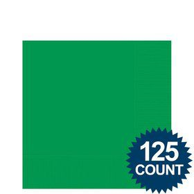Green Beverage Napkins (125 Pack)