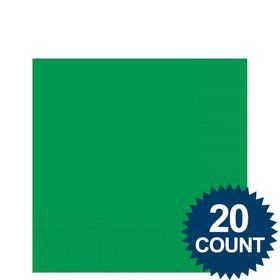 Green Beverage Napkins (20 Pack)