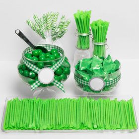 Green Candy Packaged Assortment - Candy Buffet Kit