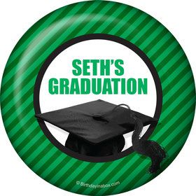 Green Caps Off Graduation Personalized Magnet (Each)