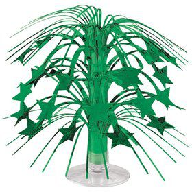 "Green Foil 8 1/2"" Cascade Centerpiece (Each)"