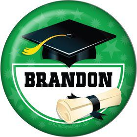 Green Grad Personalized Magnet (Each)