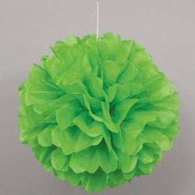 Green Hanging Puff Ball