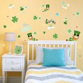 Green Leprechaun St. Patrick's Small Wall Decal