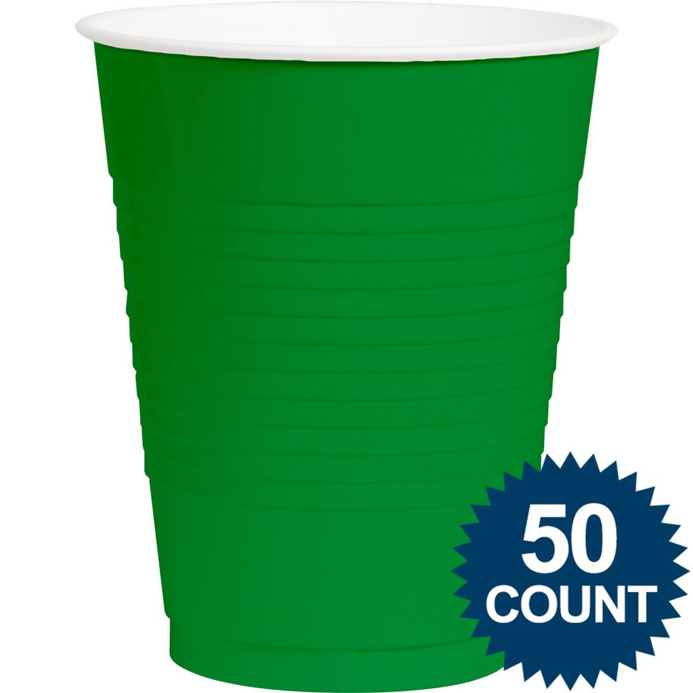 Green Plastic 16oz. Cup (50 Pack) - Party Supplies BB43680103