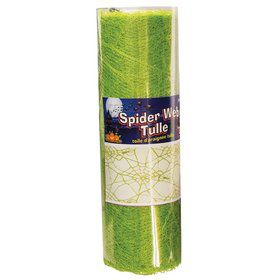 Green Spider Web Tulle 5Yds