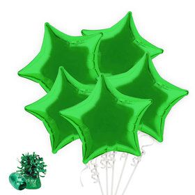 Green Star Balloon Bouquet Kit