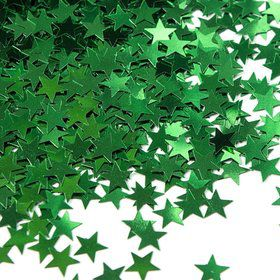 Green Stars Foil Confetti .5Oz (Each)