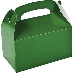 Green Treat Favor Boxes (6 Pack)