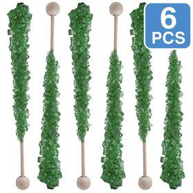 Green Watermelon Rock Crystal Candy Sticks (6 Pack)
