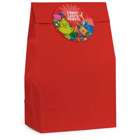 Grinch Personalized Favor Bag (12 Pack)