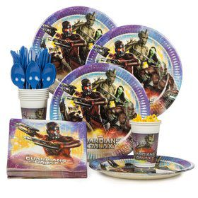Guardians of the Galaxy Birthday Party Standard Tableware Kit Serves 8