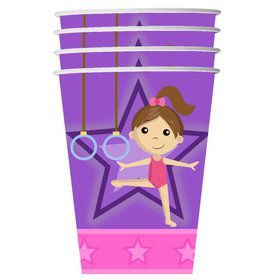 Gymnastics 9oz Cups (8 Count)