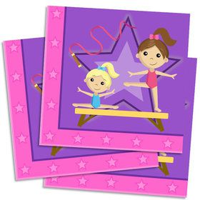Gymnastics Lunch Napkin (16 Count)
