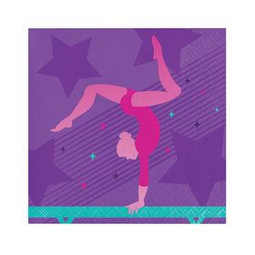 Gymnastics Party Beverage Napkins (16)