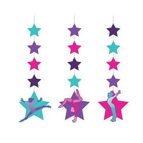 Gymnastics Party Hanging Cutout Decorations