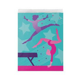 Gymnastics Party Paper Treat Bags (8)