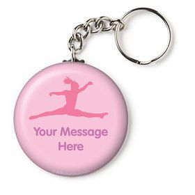 "Gymnastics Personalized 2.25"" Key Chain (Each)"