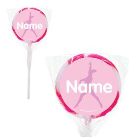 "Gymnastics Personalized 2"" Lollipops (20 Pack)"