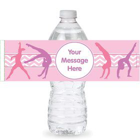 Gymnastics Personalized Bottle Label (Sheet of 4)