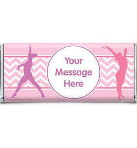 Gymnastics Personalized Candy Bar Wrapper (Each)