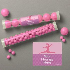 Gymnastics Personalized Candy Tubes (12 Count)