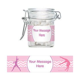 Gymnastics Personalized Glass Apothecary Jars (10 Count)