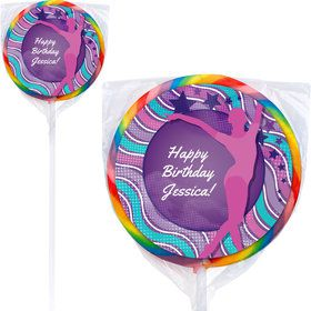 Tumble and Twirl Gymnastics Personalized Lollipops (12 Pack)