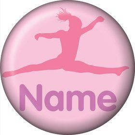 Gymnastics Personalized Mini Button (Each)
