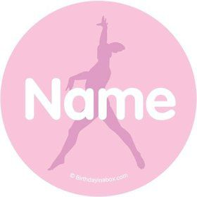 Gymnastics Personalized Mini Stickers (Sheet of 24)