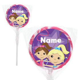 "Gymnastics Star Personalized 2"" Lollipops (20 Pack)"