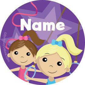 Gymnastics Star Personalized Mini Stickers (Sheet of 24)