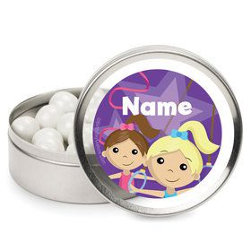 Gymnastics Star Personalized Mint Tins (12 Pack)