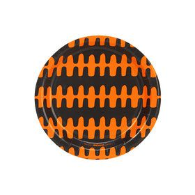 Halloween Black and Orange Print Dessert Plate (8)