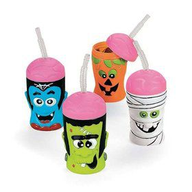Halloween Brain Head Sipper Cups (Each- Assorted)