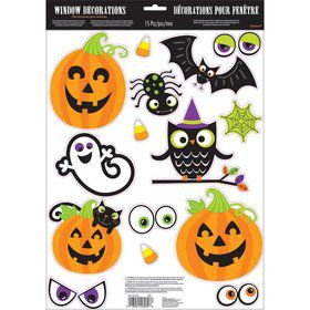 Halloween Fun Window Cling Decorations