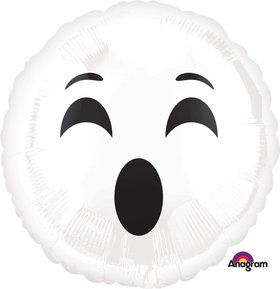 Halloween Ghost Emoji Foil Balloon