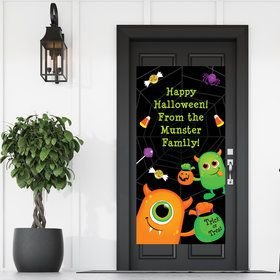Halloween Monster Personalized Giant Banner (30x60)