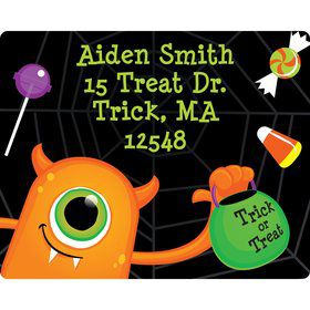 Halloween Personalized Address Labels (Sheet of 15)