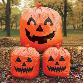 Halloween Plastic Lawn Bags (3 Pack)